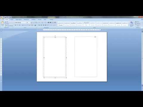 How to create personal size templates for Filofax etc. in MS Word