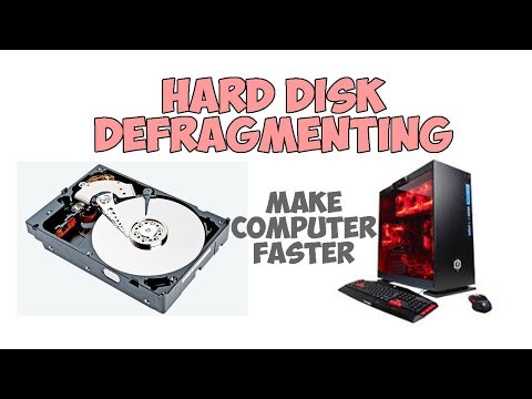 Defragmenting Computer Hard Drive And Make Computer Faster