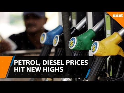 Petrol, diesel prices touch a three year high in the country