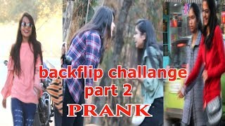 Backflip Challange |  Prank In India | Public Funny Reaction