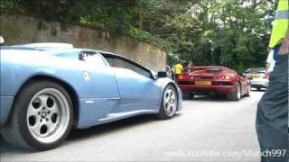 Supercars Leaving Wilton House - Aventador, Enzo, Veyron, MP4-12C, + More!