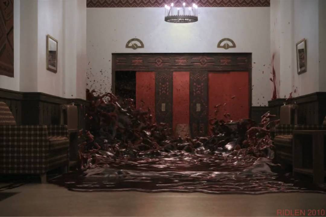 The Shining Elevator Of Blood Recreated With Realflow 4