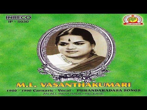 Carnatic Vocal - M.l. Vasanthakumari | Jukebox video
