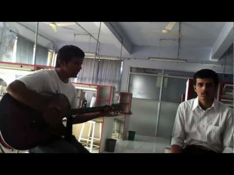 Aa bhi jaa mere do baccho ki maa on guitar...(practicing in...