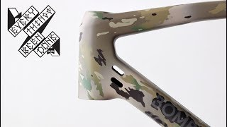 How to paint a bike camo in your garage!