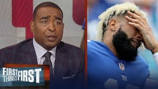 Cris and Nick disagree on OBJ's comments reacting to the Giants struggles | NFL | FIRST THINGS FIRST