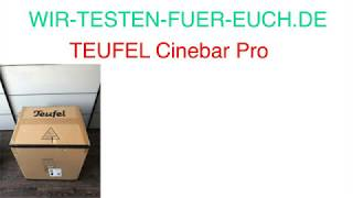 Teufel Cinebar Pro I Beste Soundbar I Vergleich Soundbar I Super Bass
