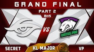 VP vs Secret Grand Final Kuala Lumpur Major KL Major Highlights Dota 2 - [Part 2]