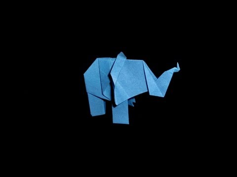Origami Elephant (easy) - Tutorial [HD]