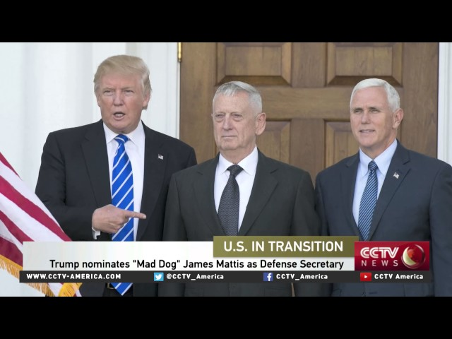 "Trump nominates ""Mad Dog"" James Mattis as Defense Secretary"