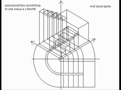 Assonometria isometrica scala a 2 rampe youtube for Disegnare una scala a chiocciola con autocad