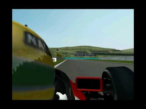 Onboard the MP4/6 during my lap of the Hungaroring.