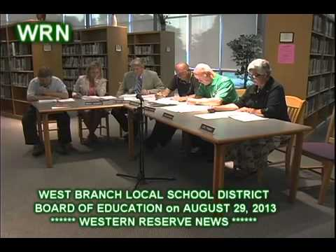 WEST BRANCH SCHOOLS BOARD OF EDUCATION AUGUST 29, 2013