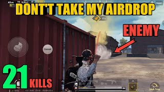 Trying To Get Every AirDrop | 21 Kills Ace Solo Vs Squad | PUBG Mobile