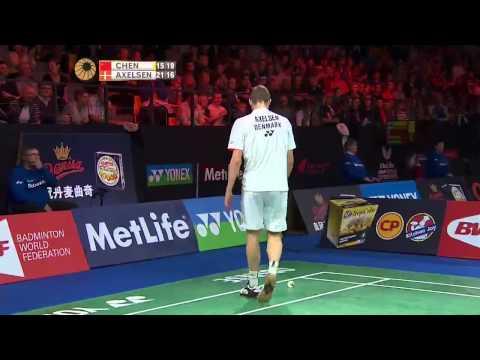 Yonex Denmark Open 2015 | Badminton SF M2-MS | Chen Long Vs Viktor Axelsen