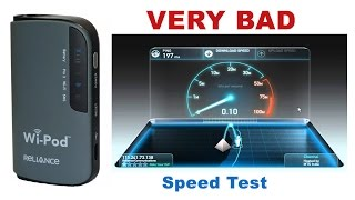 Reliance WiPod Review - Very Bad Speed - Pro3 Broadband Netconnect - Wi Pod