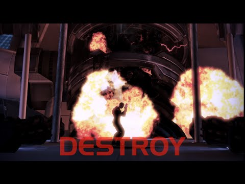 Mass Effect 3 : Extended Cut - Destroying the reapers ( Love Interest -Tali )