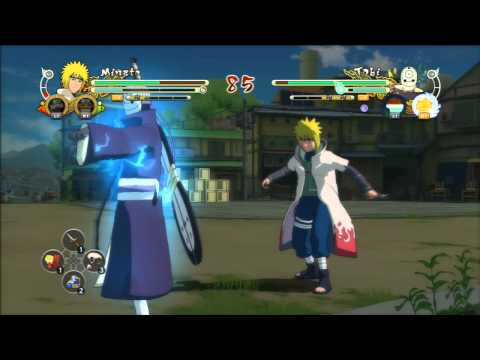 Naruto Shippuden Ultimate Ninja Storm 3: Minato Vs Madara tobi video