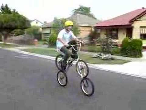 the backwards bike (pedal backwards to go forwards)