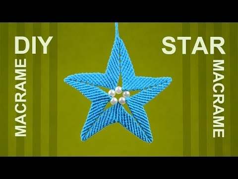 How to Make Macrame STAR Ornament