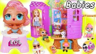 LOL Surprise Dolls + Lil Sisters Visit Chelsea TreeHouse - Barbie