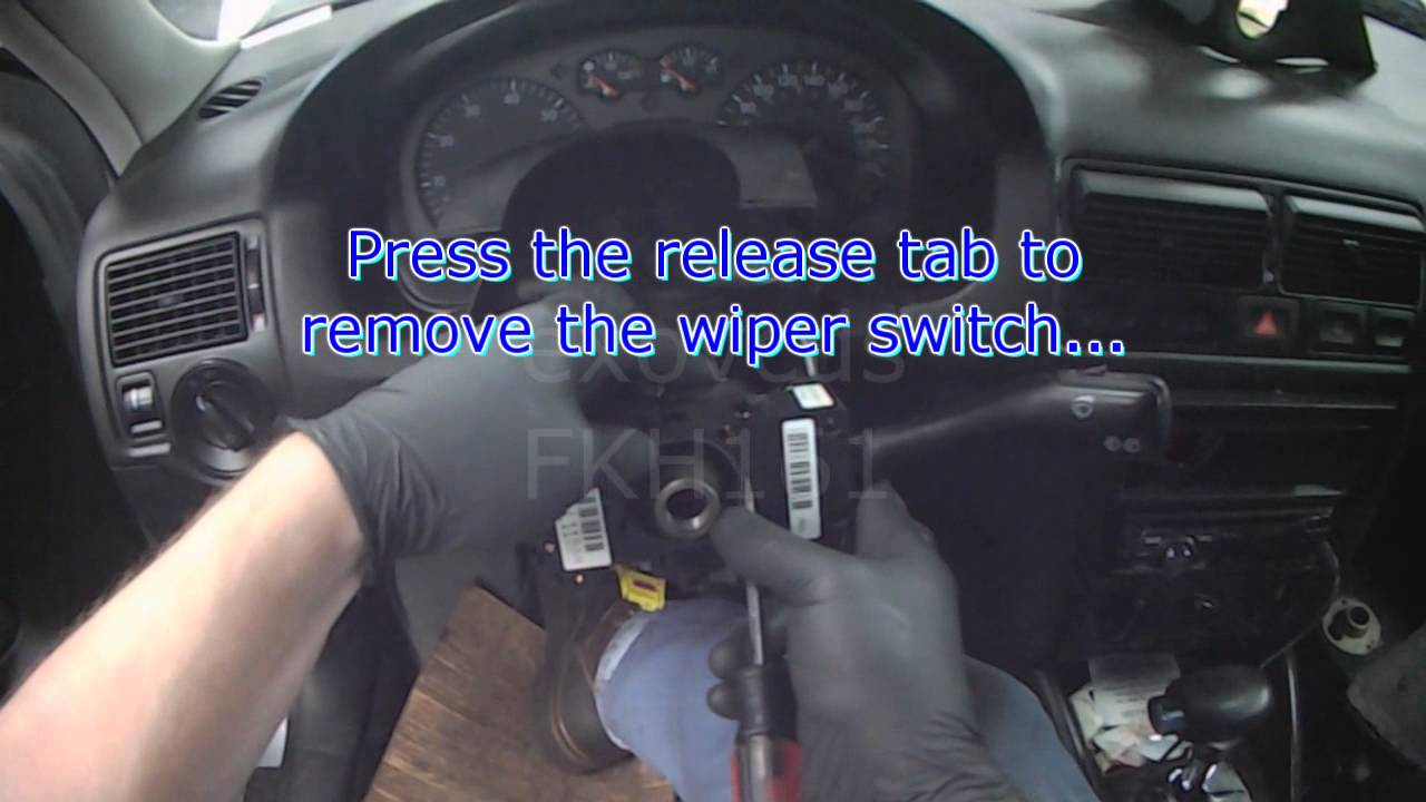 Vw a4 wiper switch replacement youtube for 2001 vw polo electric window problems