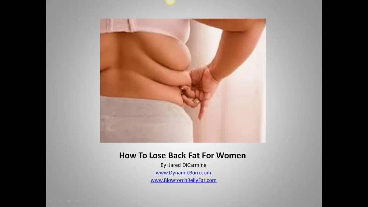 Upper Back Workouts Women How To Lose Back Fat For Women