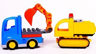 Excavator and Dump Truck Lego Duplo Building Blocks Toys for Kids