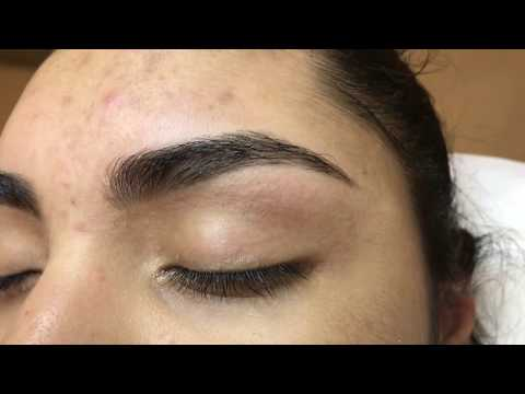 Eyebrow threading review