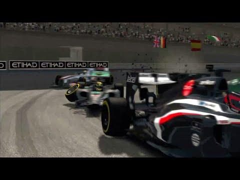 F1 2013. Coches de choque en Abu Dhabi. T. 2014.