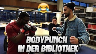Bodypunch in der BIBLIOTHEK?! #Silent Library l Yavi TV