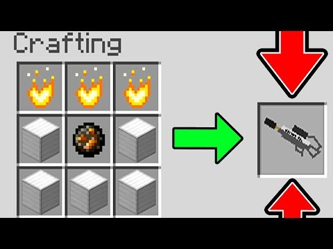 HOW TO CRAFT A WORKING FLAMETHROWER IN MINECRAFT! (NO MODS)