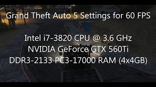 GTA5: 60 FPS with my NVIDIA GeForce GTX 560Ti