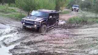 3x Hummer H2 off road in mud in Milovice VII.
