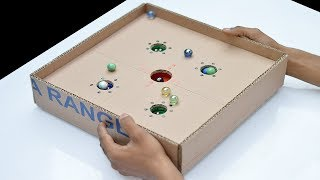 DIY Ball Balance Game Out Of Cardboard For Kids | NB tricks