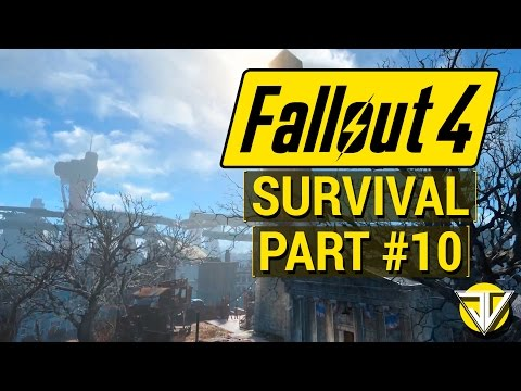FALLOUT 4: SURVIVAL MODE Let's Play Part 10 - Into the GLOWING SEA! (PC Gameplay Walkthrough)