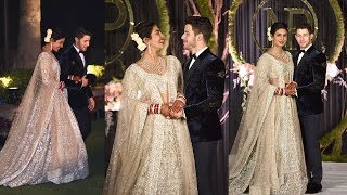 Happiest Couple Priyanka Chopra & Nick Jonas Fairy Tale ENTRY At Royal WEDDING Reception In Delhi
