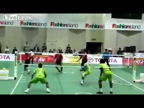Волейбол Ногами! Супер спорт!