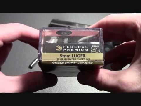 Ballistic Gel Test:  Federal Premium 9mm 135gr hydra shok JHP