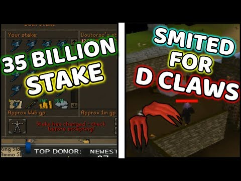 35B Stake and Smited For Dragon Claws - Runescape Twitch Moments
