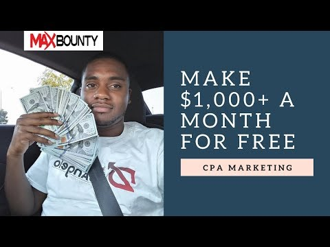 Free Maxbounty Training | Make $1000+ A Month With CPA Marketing