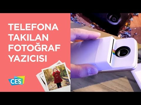 Telefona takılan fotoğraf yazıcısı