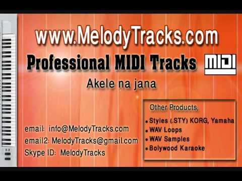 Akele na jana MIDI - www.MelodyTracks.com