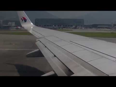 Malaysia Airlines Boeing 737-8H6 takeoff from Hong Kong Airport 30/07/2014