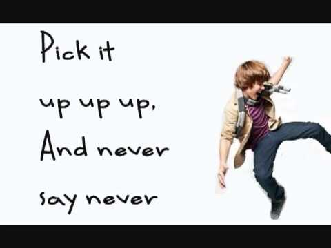 Justin Bieber Feat  Jaden Smith  Never Say Never Lyrics & Download New Song 2010   YouTube