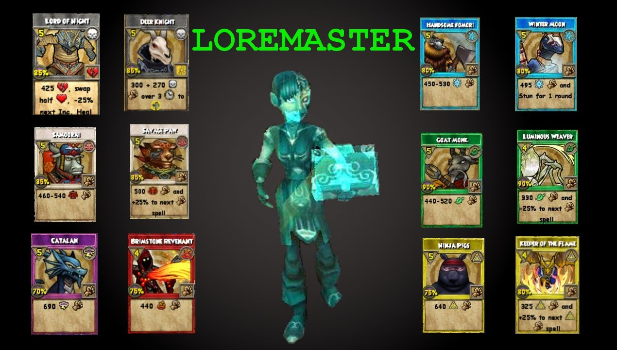 How To Craft The Loremaster Permanent Card Wizard