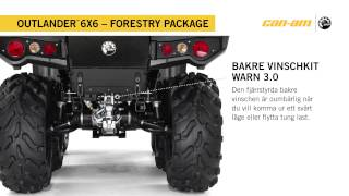 Can-Am Outlander 6X6 1000 XT Forestry package Sweden