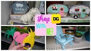 SHOP WITH ME DOLLAR GENERAL!  FARMHOUSE/SPRING/SUMMER!!