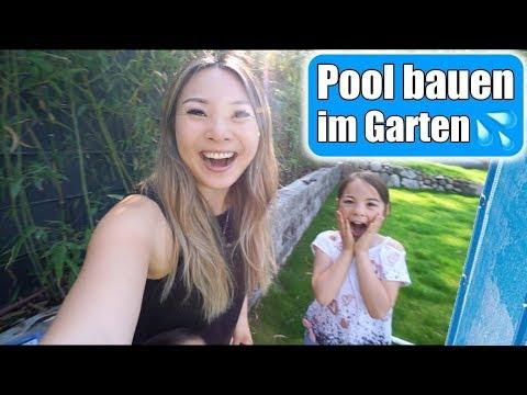 Wir Bauen Einen Pool Im Garten