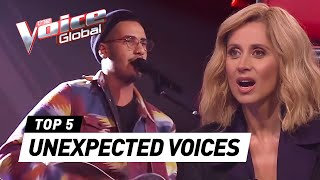 Download Lagu Most UNEXPECTED VOICES in The Blind Auditions of The Voice Gratis STAFABAND